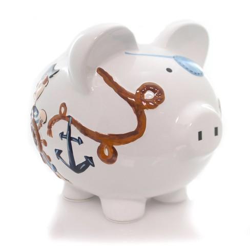 """Child To Cherish 7.75"""" Pirate Piggy Bank Money Saver - image 1 of 4"""