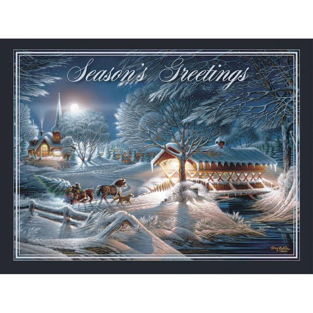 Image of 12ct Evening Frost Boxed Christmas Cards