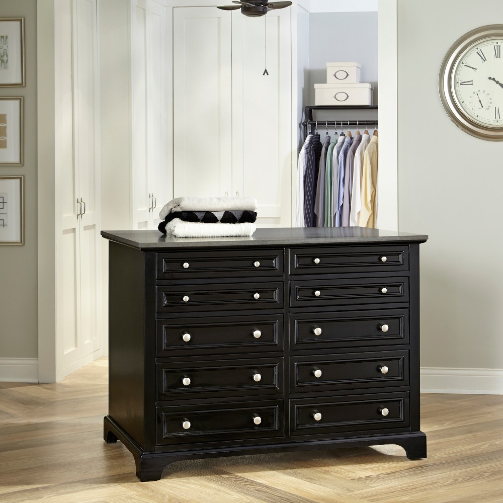 Image of Bedford Closet Island - Black - Home Styles