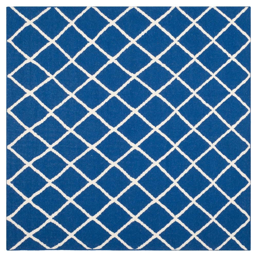 Brant Flatweave Area Rug - Dark Blue (6' Square) - Safavieh