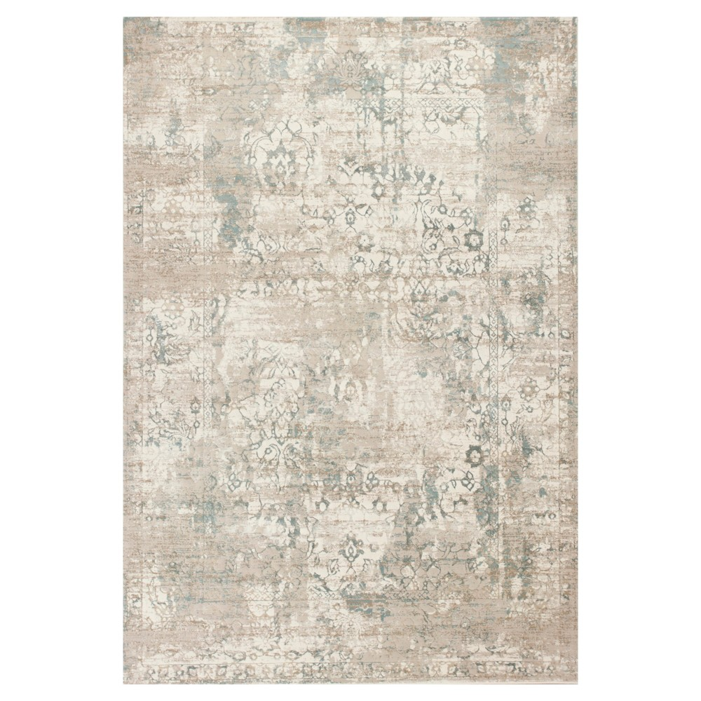 Ivory Spacedye Design Pressed/Molded Area Rug 7'10