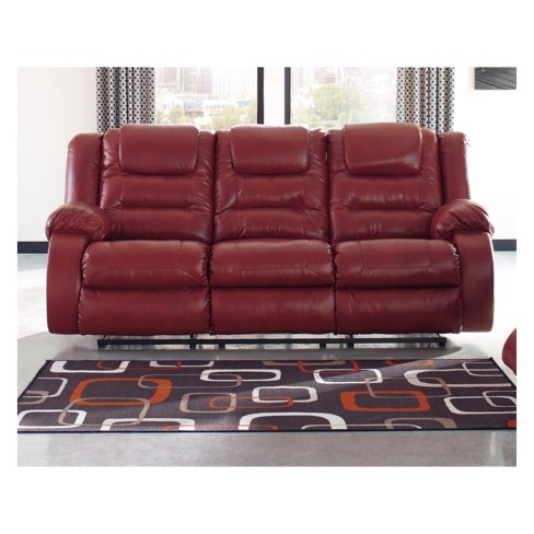 Vacherie Reclining Sofa Salsa Red - Signature Design By Ashley : Target
