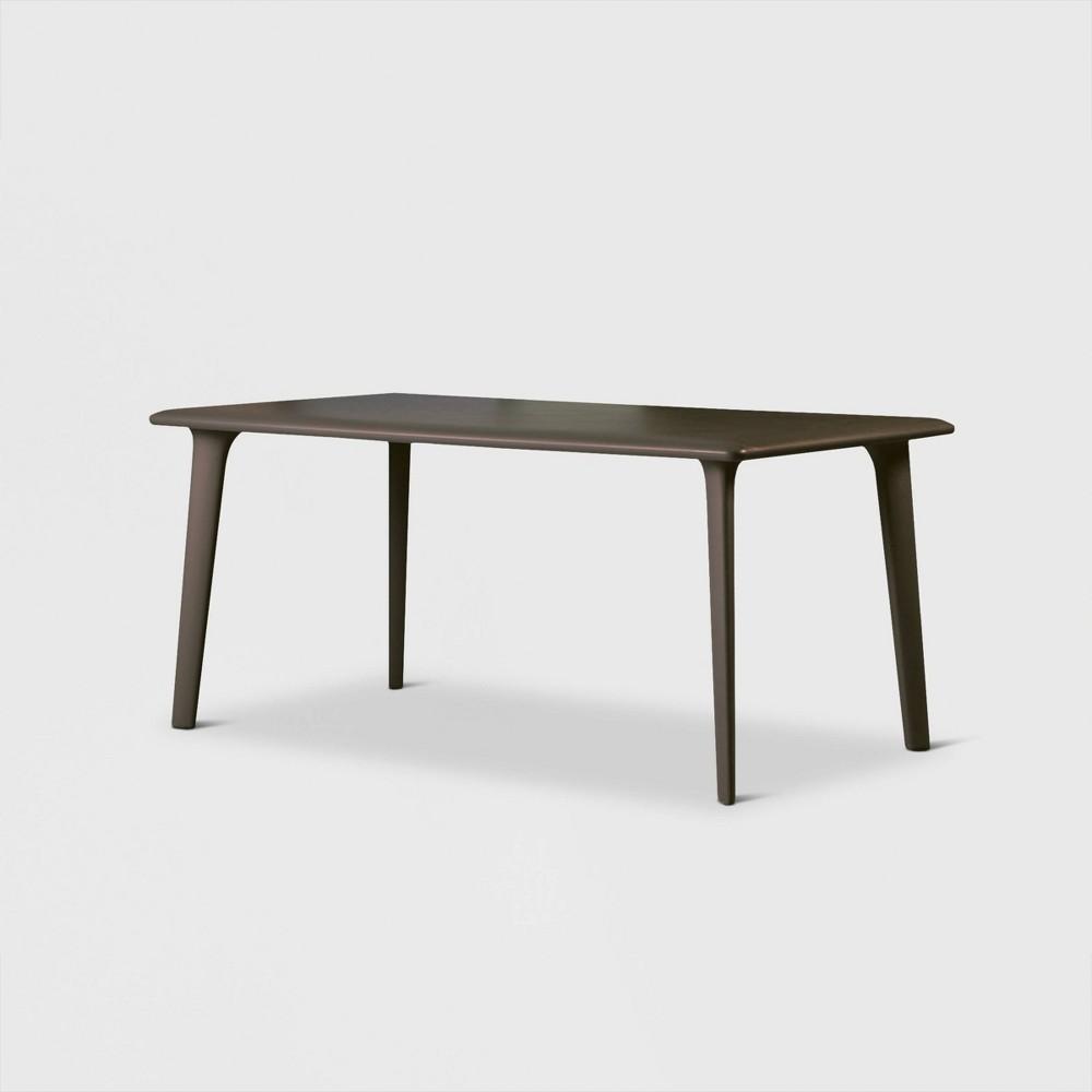 Image of New Dessa Rectangular Patio Table - Warm Gray - RESOL
