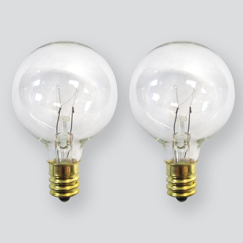 Image of 2pk Incandescent Replacement Bulbs G40 Clear - Room Essentials