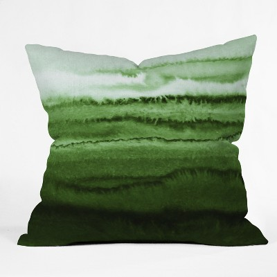 Green Dip Dye Design Throw Pillow - Deny Designs