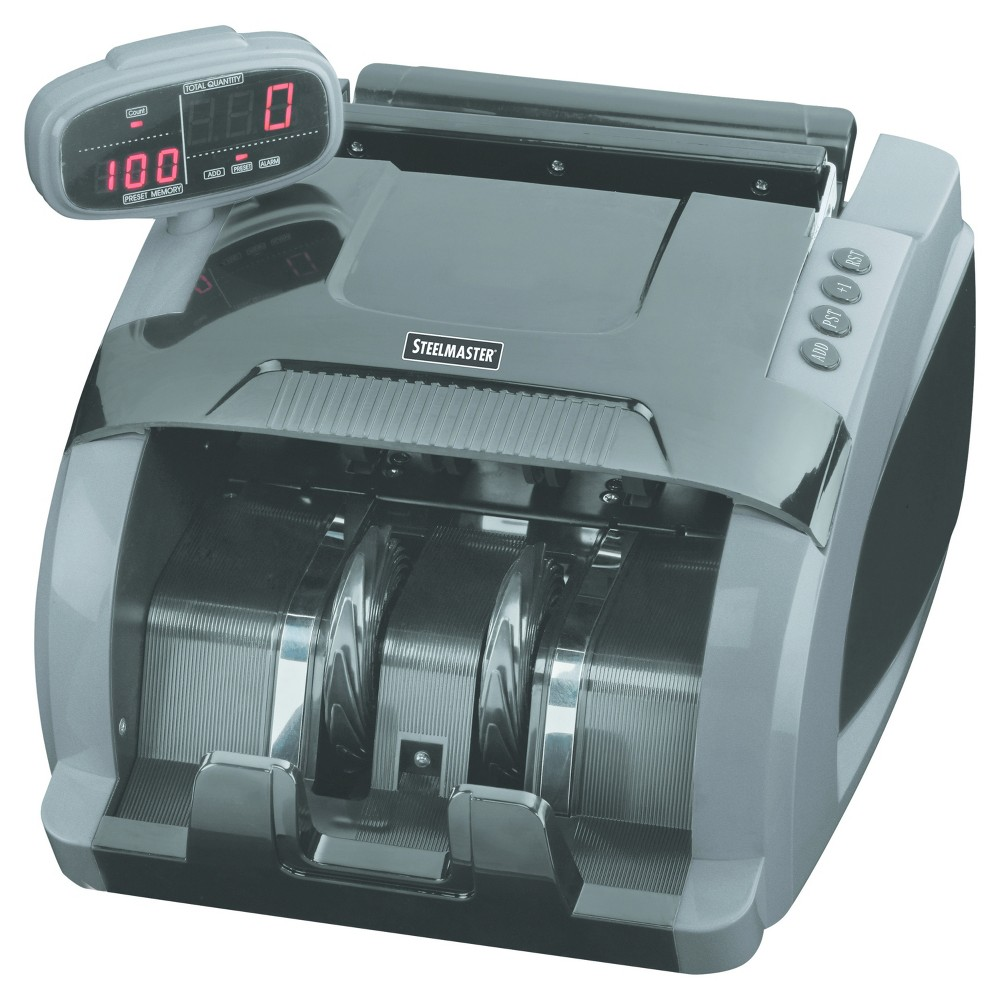Image of SteelMaster 4800 Currency Counter, 1080 Bills/Min, 9 1/2 x 11 1/2 x 8 3/4, Charcoal Gray