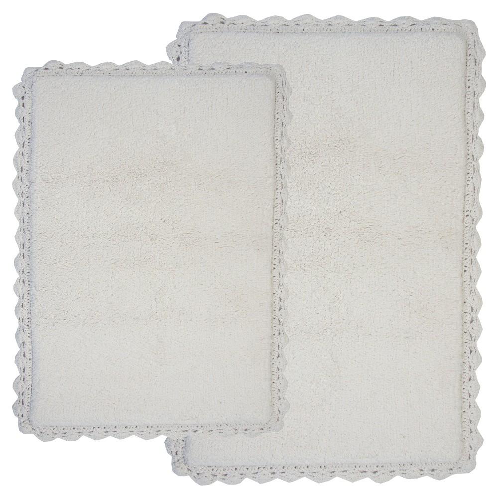 Image of Crochet 2 - Pc. Bath Rug Set Ivory - Chesapeake Merch Inc.