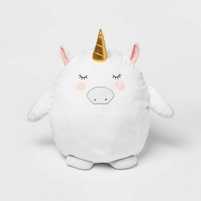 Unicorn Hide-A-Throw Pillow Buddy Pink - Pillowfort™