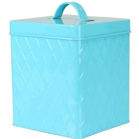Home Basics Large Tin Canister, Turquoise - image 1 of 3