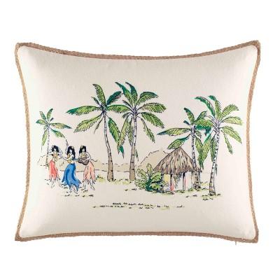 On The Beach Throw Pillow - Nine Palms