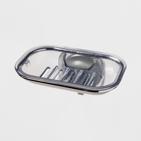 Stronghold Suction Soap Dish Clear - OXO - image 1 of 3