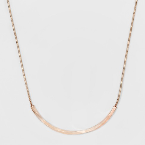 Women's Short Necklace with Twist Bar - A New Day™ Rose Gold - image 1 of 2