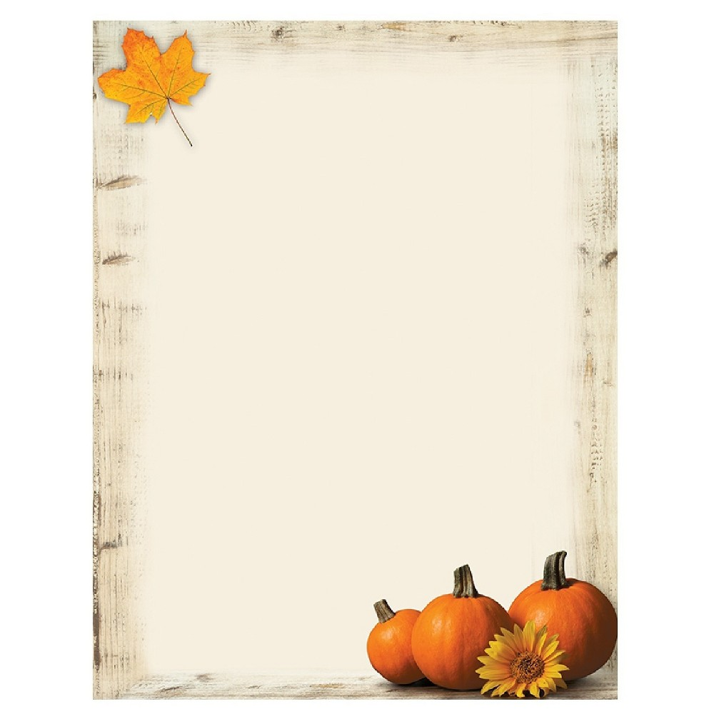 80ct Pumpkin White Sunflower Letterhead