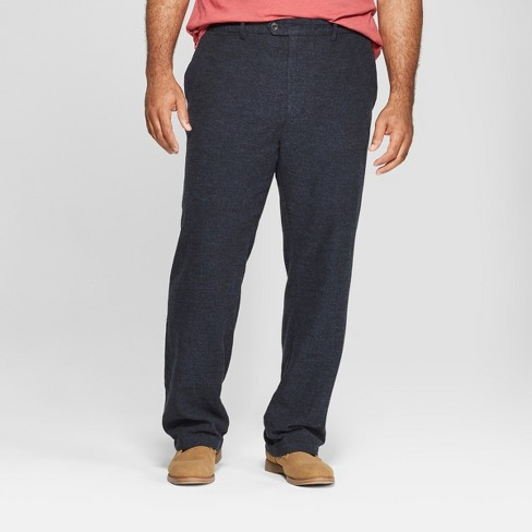 Men's Big & Tall Solid Straight Fit Lightweight Trouser - Goodfellow & Co™ Xavier Navy 52x32 - image 1 of 3