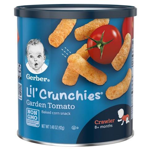 Gerber Lil' Crunchies Baked Corn Snack, Garden Tomato - 1.48oz - image 1 of 4