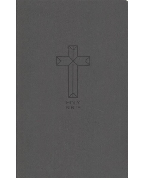 Holy Bible : New King James Version, Value Thinline, Charcoal Leathersoft, Black, Red Letter Edition - image 1 of 1