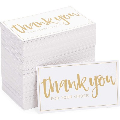 Stockroom Plus 200-Pack Thank You For Your Order Cards, Notecards for Small Business (3.5 x 2 In)