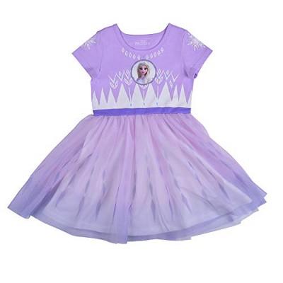 Disney Frozen II Girl's Elsa Short Sleeve Princess Dress Up Outfit - Purple, Size 8