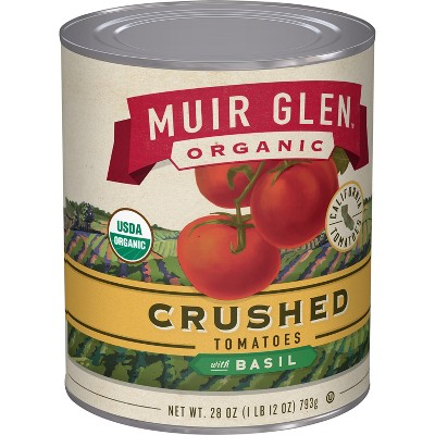Canned Tomatoes & Paste: Muir Glen Crushed