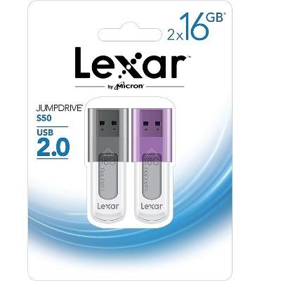 Lexar JumpDrive S50 16GB USB 2.0 Flash Drives 2071292