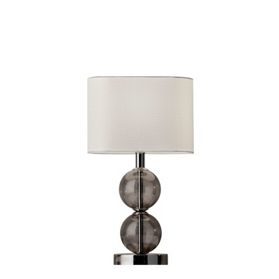 Donna Table Lamp Shiney Silver (Lamp Only)- Adesso