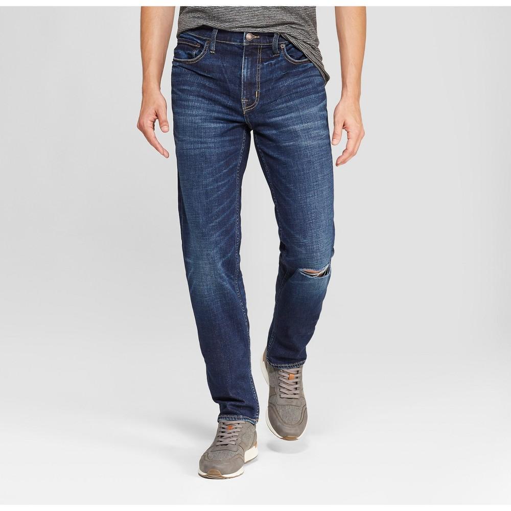 Men's Slim Fit Denim - Goodfellow & Co Medium Wash 40x30, Blue