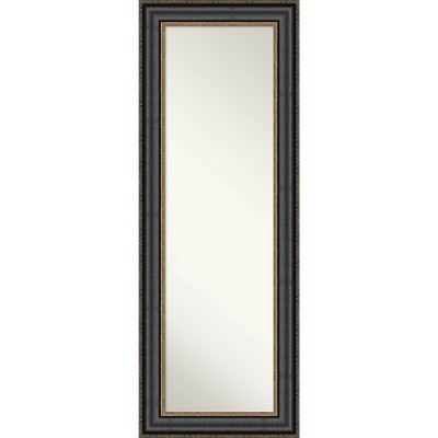 Thomas Bronze Framed Full Length on the Door Mirror Black - Amanti Art
