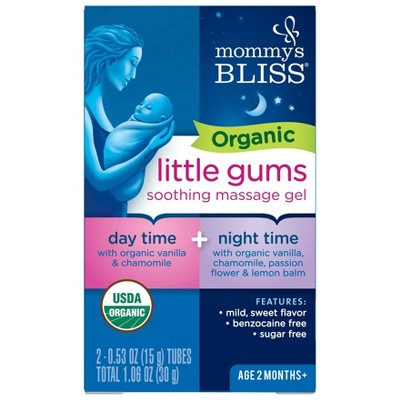 Mommy's Bliss Organic Little Gums Soothing Massage Gel Day & Night Combo - 2ct/0.53oz Each