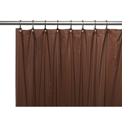 Carnation Home Fashions 3 Gauge Vinyl PVC Shower Curtain Liner Weighted Magnets and Metal Grommets 72 x 72