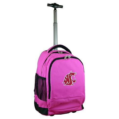 NCAA Washington State Cougars Pink Premium Wheeled Backpack - image 1 of 4