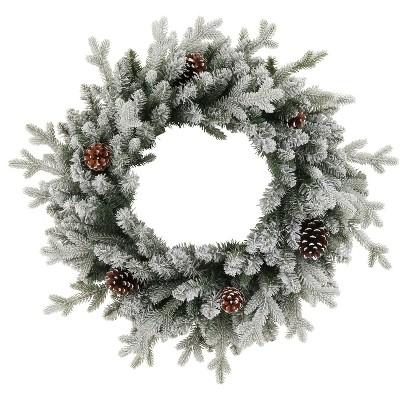 28  Christmas Unlit Balsam Fir Pinecones Artificial Wreath - Wondershop™