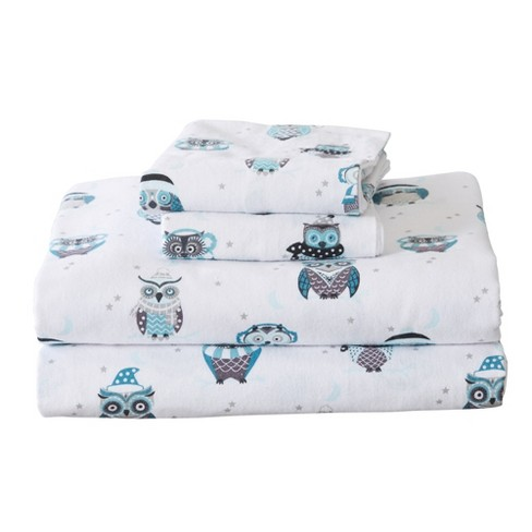 Home Fashion Designs 100 Cotton Printed Flannel Sheet Set Twin Xl Winter Owls Target