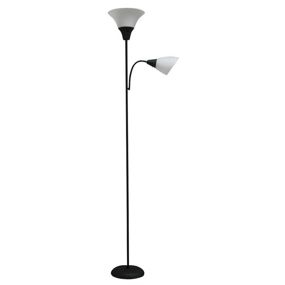 Tochiere With Task Light Floor Lamp Black Includes Led Light Bulb Room Essentials 8482