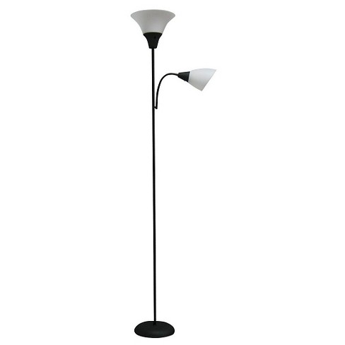 Tochiere With Task Light Floor Lamp Black Includes Energy