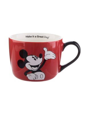 Mickey Mouse & Friends Mickey Mouse Porcelain Make It A Great Day Mug 15oz - Red/Black