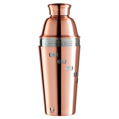 Oggi® Dial A Drink 34oz Stainless Steel Cocktail Shaker - Copper