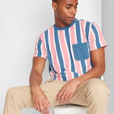 Men's Regular Fit Short Sleeve Striped T-Shirt - Original Use™ Blue