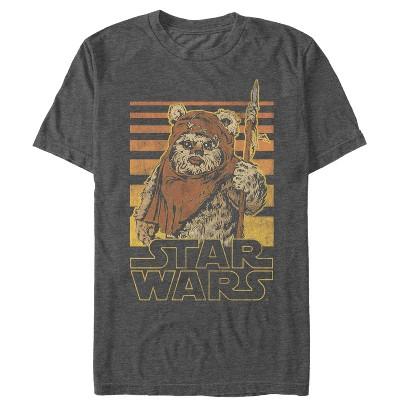 Men's Star Wars Wicket Ewok Stripes T-Shirt