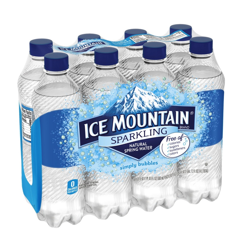 089f7c4ecb Ice Mountain Sparkling Natural Spring Water, 16.9 Fl Oz (Pack of 24).  EAN-13 Barcode of UPC 083046446155 · 083046446155