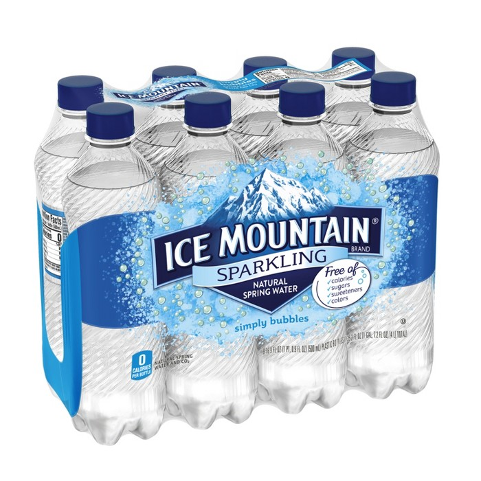 Ice Mountain Simply Bubbles Sparkling Water - 8pk/16.9 fl oz Bottles - image 1 of 10