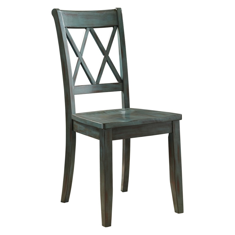 Image of 2pc Mestler Dining Room Side Chair Green - Signature Design by Ashley