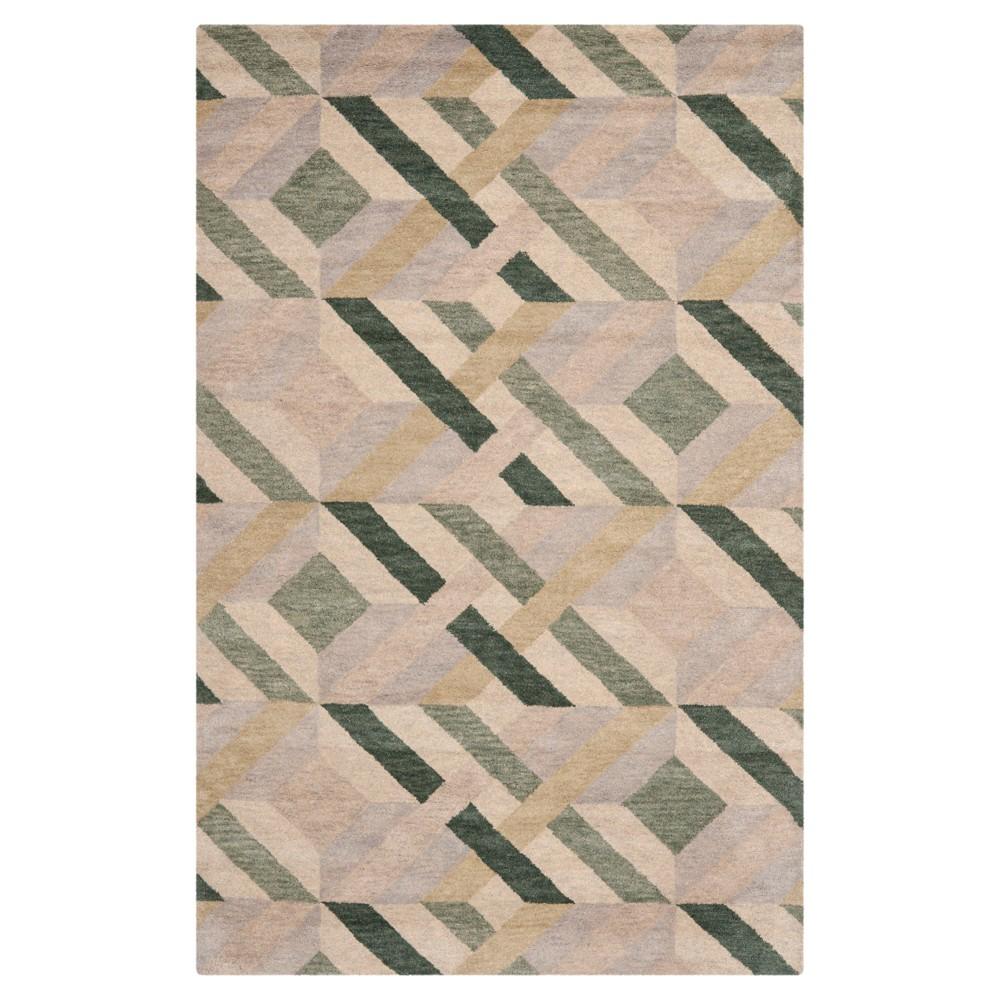 Garrman Area Rug - Ivory/Green (5'x8') - Safavieh, Natural/Green