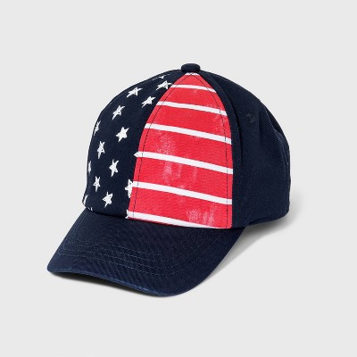 Boys' Americana Baseball Hat - Cat & Jack™ Navy/Red