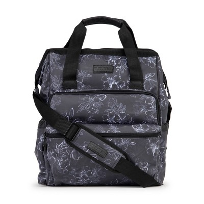 JuJuBe Dr Mom Multi-Carry Backpack Deluxe Diaper Bag - Floral Print