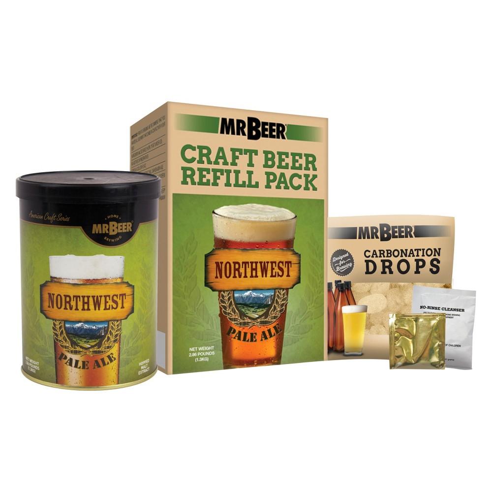 Mr. Beer Northwest Pale Ale Craft Beer Making Refill Kit, Brown