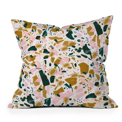 "16""x16"" Marta Barragan Camarasa Boho Terrazzo Square Throw Pillow - Deny Designs"