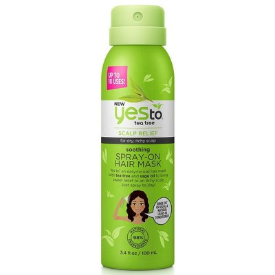 Yes To Tea Tree Soothing Spray-On Hair Mask - 3.4 floz