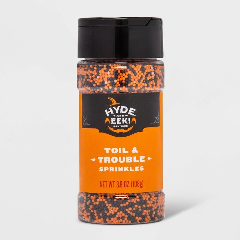 Halloween Toil and Trouble Orange and Black Nonpareils Sprinkles - 3.8oz - Hyde & EEK! Boutique™ - image 1 of 1