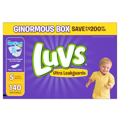 Luvs Diapers, Ginormous Pack - Size 5 (140 ct)