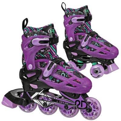 Roller Derby Lomond Girls' Adjustable Inline-Quad Combo Skates - Black